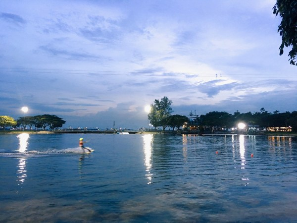 Wakeboarding at the Singapore Wake Park 2016