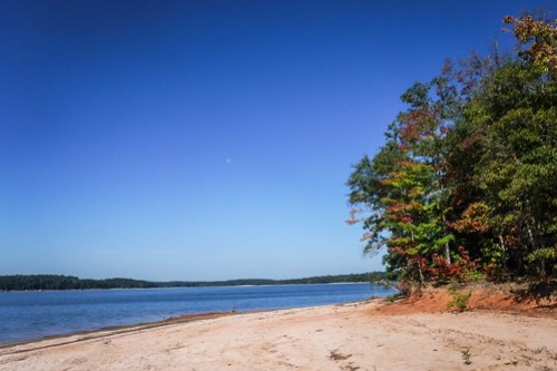Paddling to Ghost Island in Lake Hartwell-44