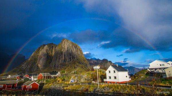 Rainbow over Hamnoy - Lofoten, Norway.jpg