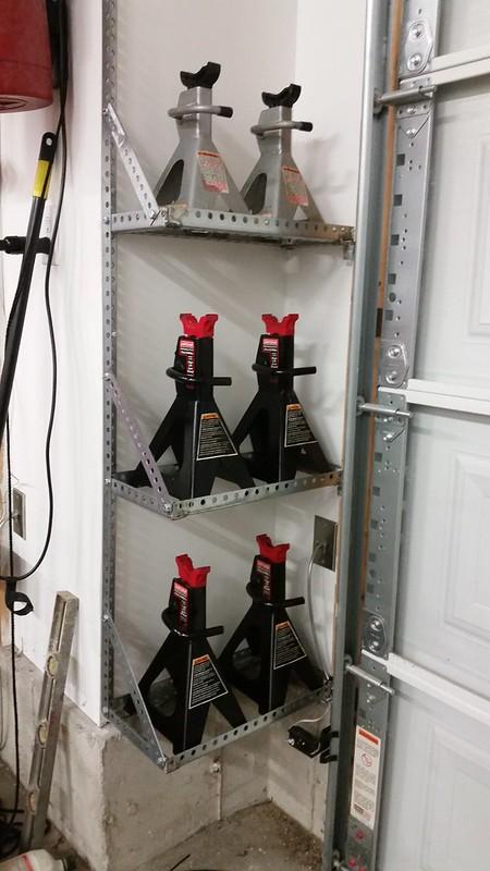 Jack Stand Storage : stand, storage, Stand, Storage, Garage, Journal, Board