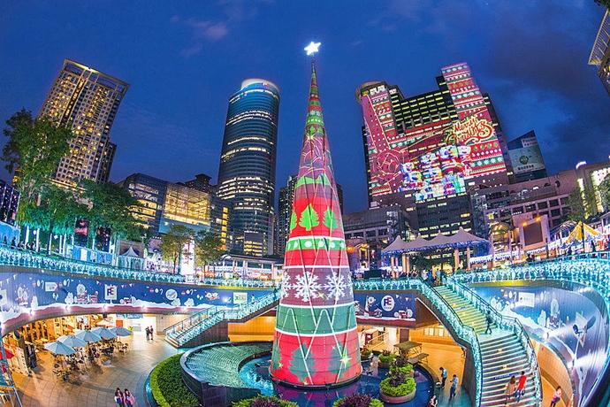 【新北】2016新北歡樂耶誕城。全國面積最大3D投影光雕秀精彩登場! - 七先生與艾小姐