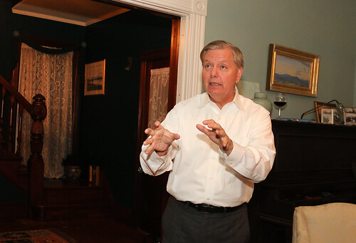 Lindsey Graham House Party  Photo by Allegra Boverman