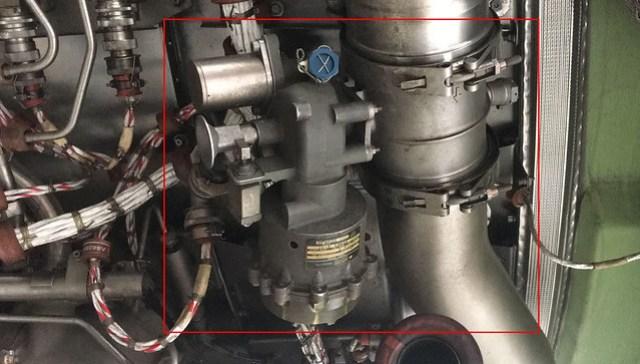 Válvula de arranque de un IAE V2500.
