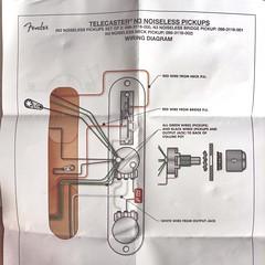 Fender Telecaster N3 Noiseless Pickups Wiring Diagram Flickr