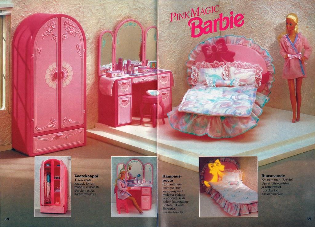 Barbie Journal 1992 Finnish  Pink Magic Barbie