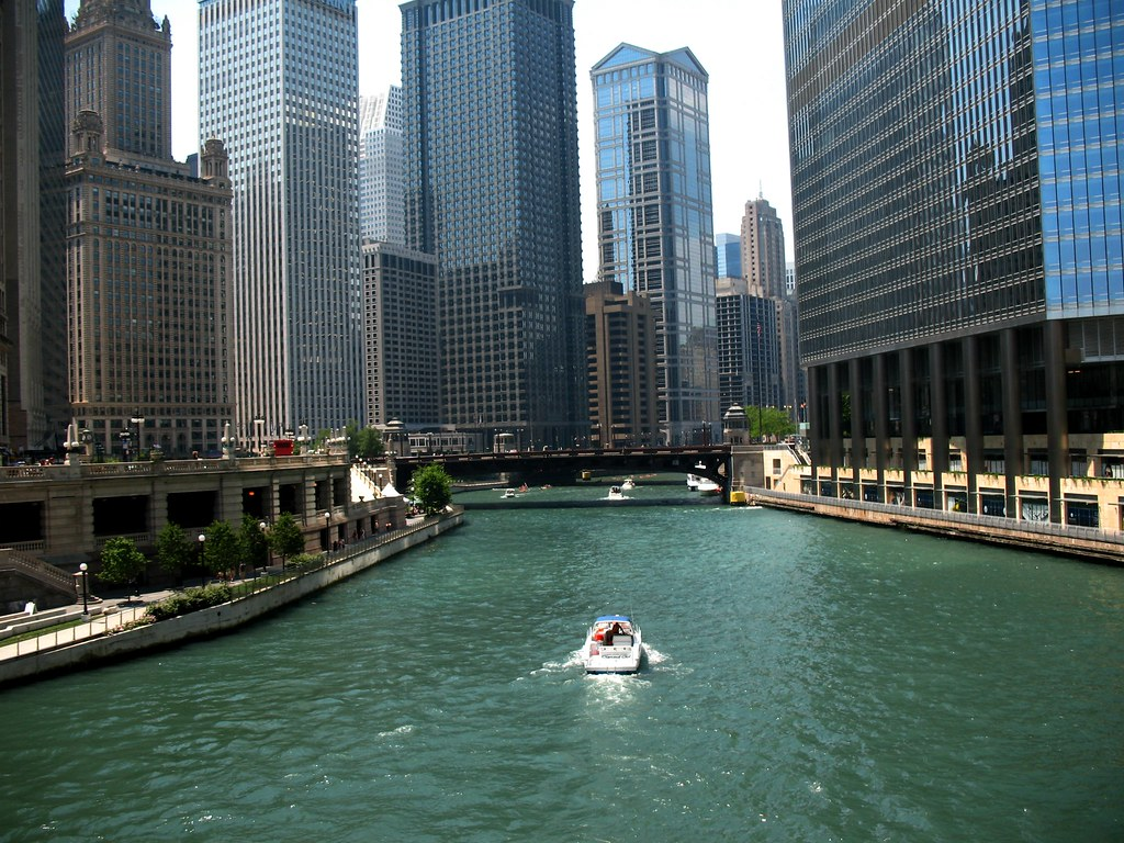 The Chicago River    afunkydamsel  Flickr
