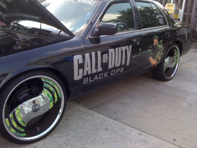 Call Of Duty Black Ops Customized Car Saw This Car At