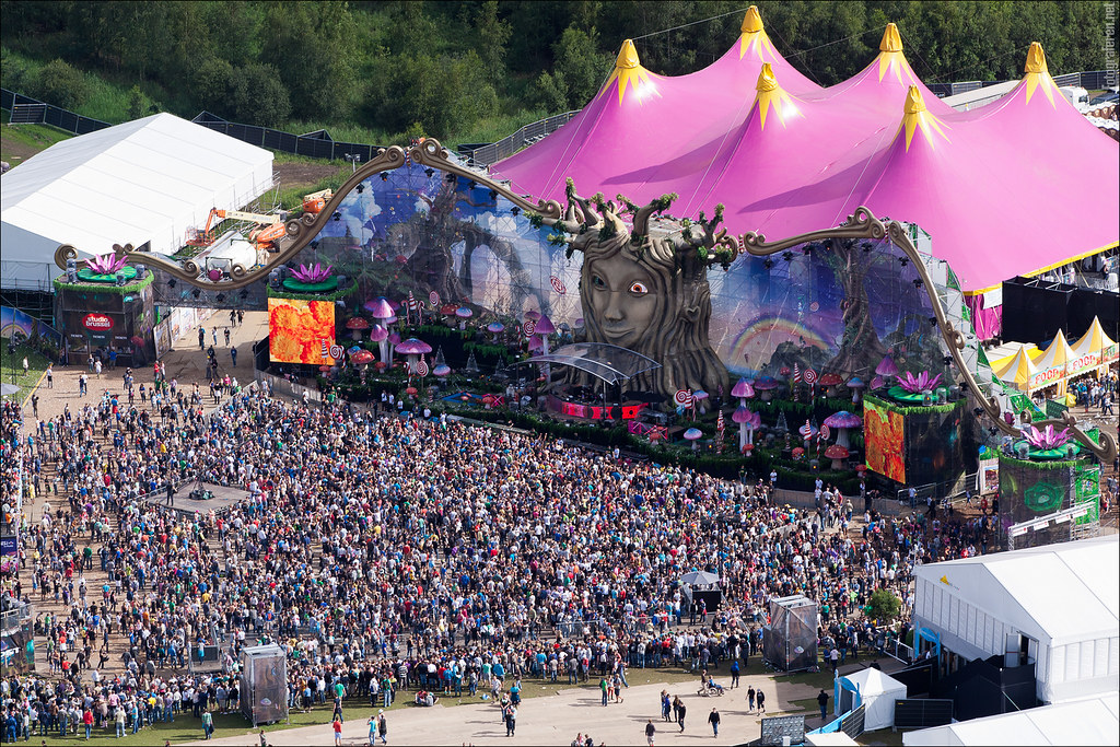 Aerial View Over Tomorrowland Tomorrowland 2011 Friday