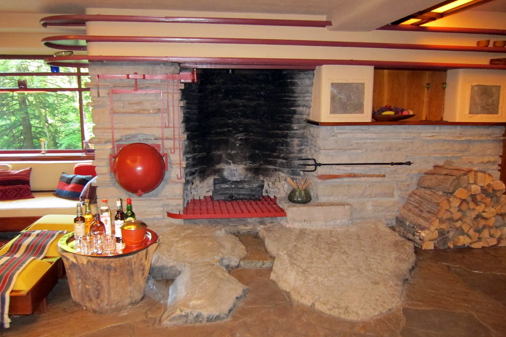 fireplace for living room modern ceiling design pa - mill run: fallingwater and ke ...
