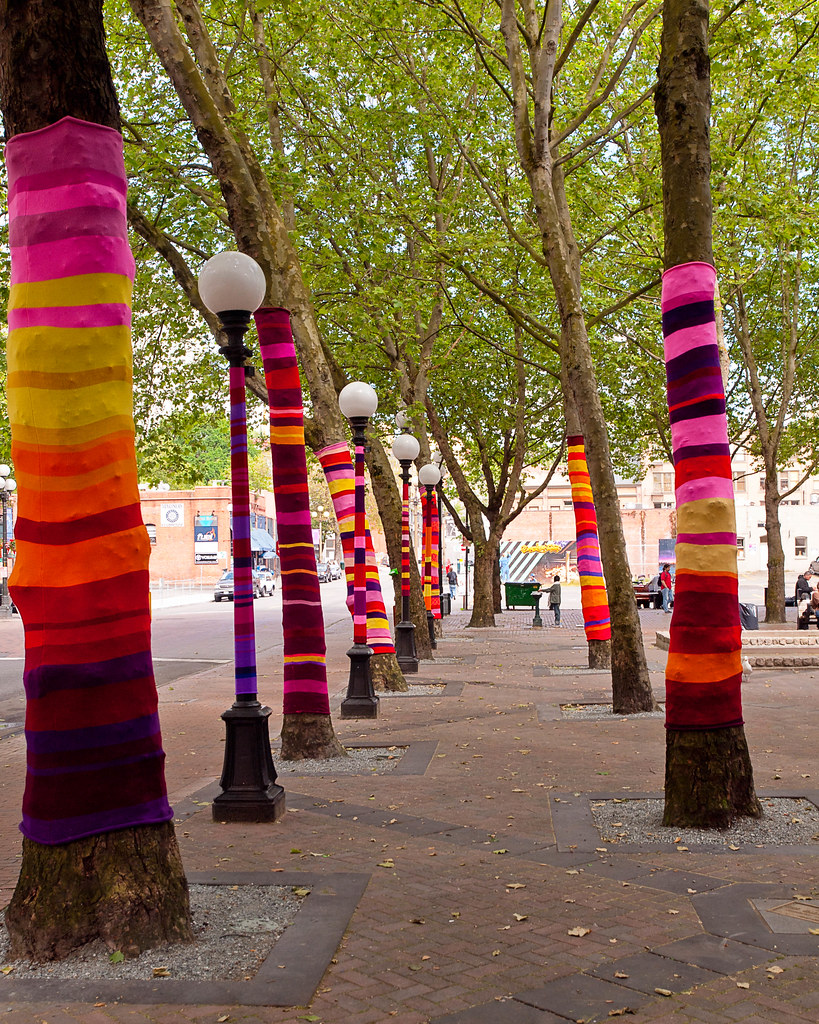 Knitted Trees  Knitted Trees an art installation by