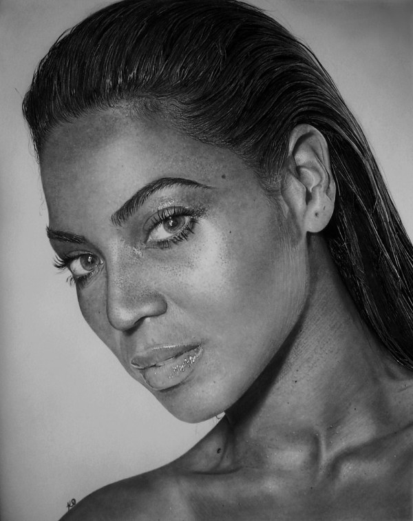 Beyonc Knowles Drawing Of American & Recordin