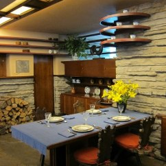 Living Room Table And Chairs Open Window From Kitchen To Pa - Mill Run: Fallingwater Dining Alcove | ...