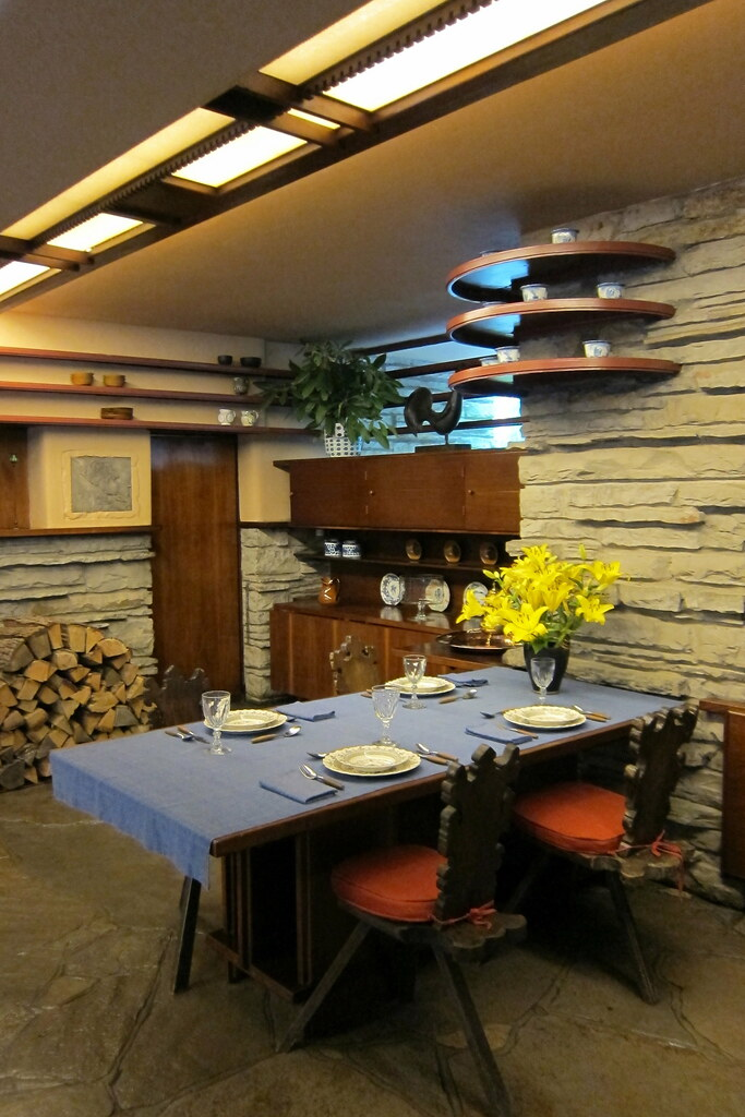 tables for the living room large furniture sets pa - mill run: fallingwater dining alcove | ...