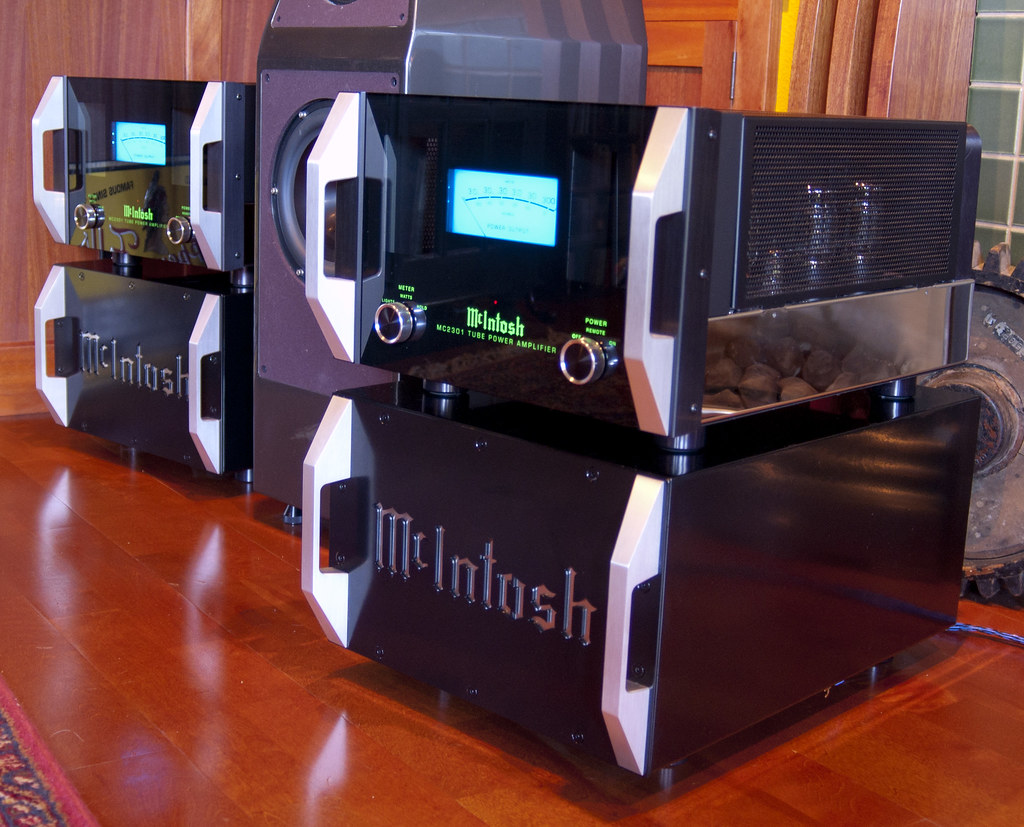 Custom McIntosh Power Amplifier Stands  These audio rack