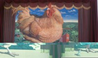 Stage Chicken Floor to ceiling mural.