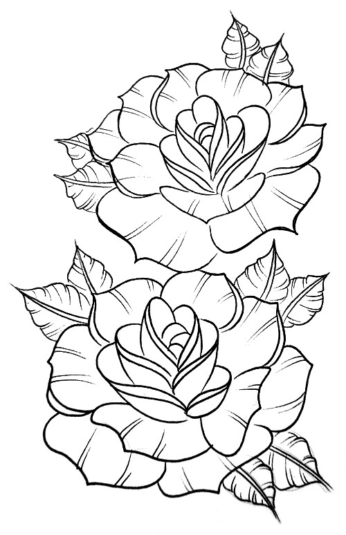 Peony Clipart Sketch