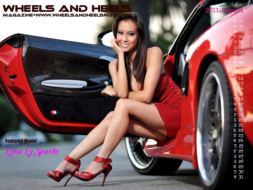Dub Magazine Girls Wallpaper Wheels And Heels Magazine 2011 08 Lyna Ly Sparks 1024x768