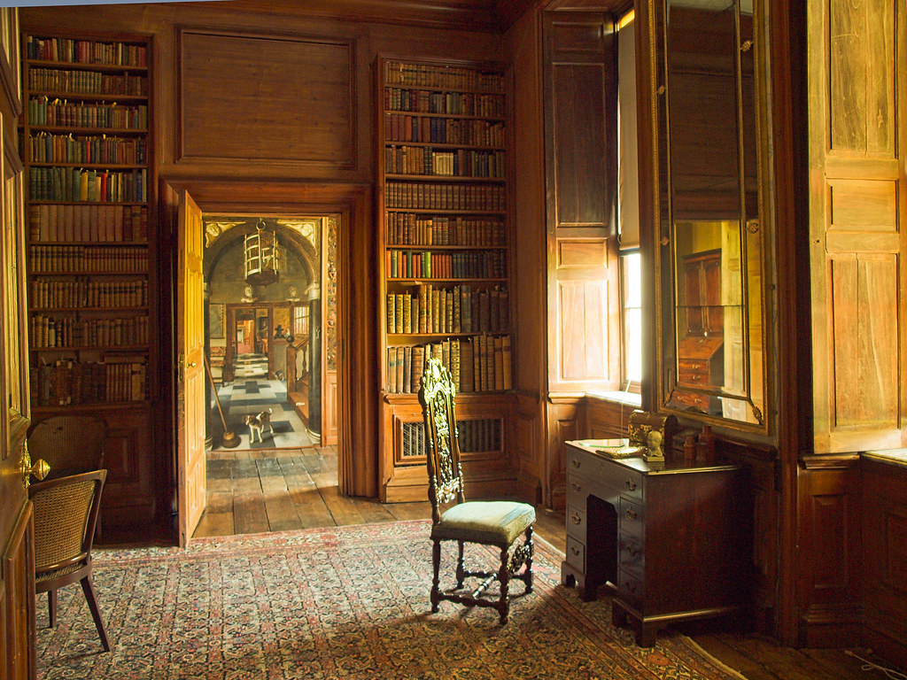 The Library And Through The Doorway A Trompe De Loeil Pa