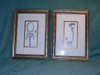 Peggy Abrams framed bathroom wall art