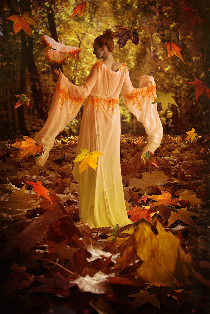 Fall Leaves Dancing Wallpaper Autumn Goddess Created For Brenda S Bounty Challenge