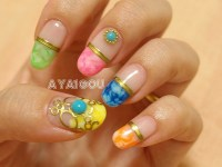 Rainbow nails for summer | My own nails Base gel Colored ...