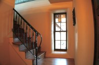 Stairs inside StrawBale House with American Clay Plaster ...