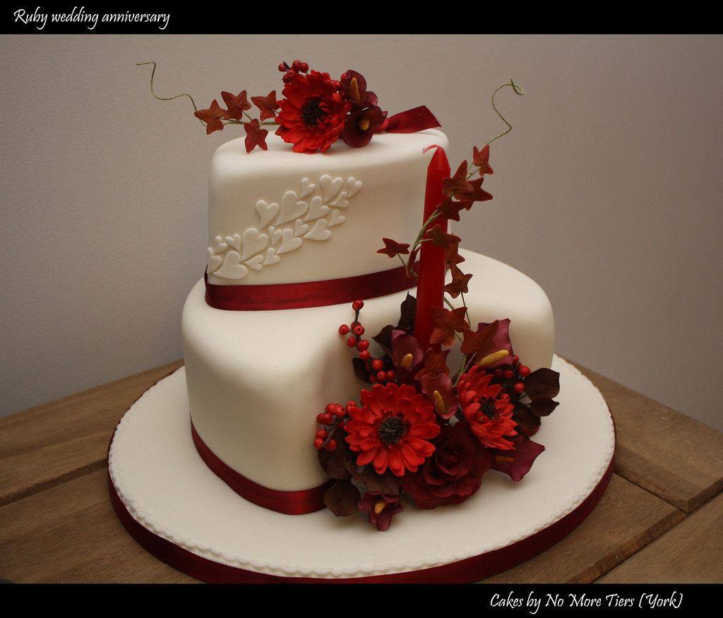 Ruby Wedding Anniversary Cake Autumnal And Now For