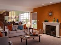 Casual Living Room | Fireplace Wall: Marmalade Glaze UL120 ...