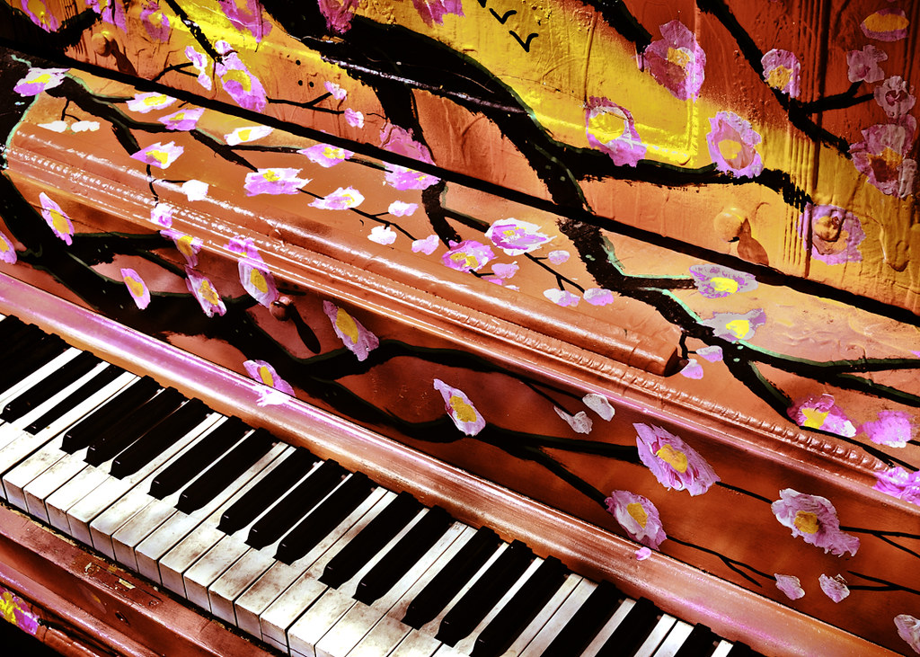 Colorful Piano  The Downtown Denver Partnership placed