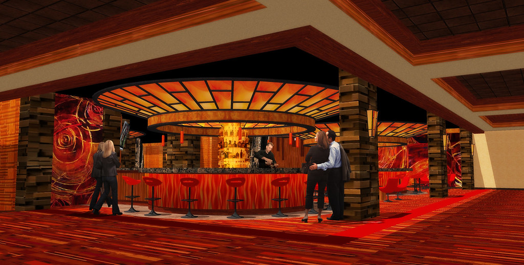 Casino Bar Design Conceptual Bar Rendering Casino F
