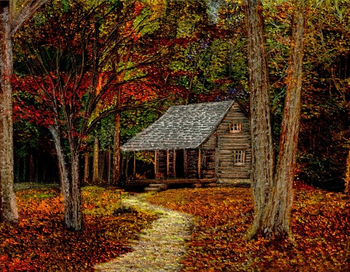 4k Fall Michigan Wallpaper Fall Retreat Cabin In The Smoky Mountains During The