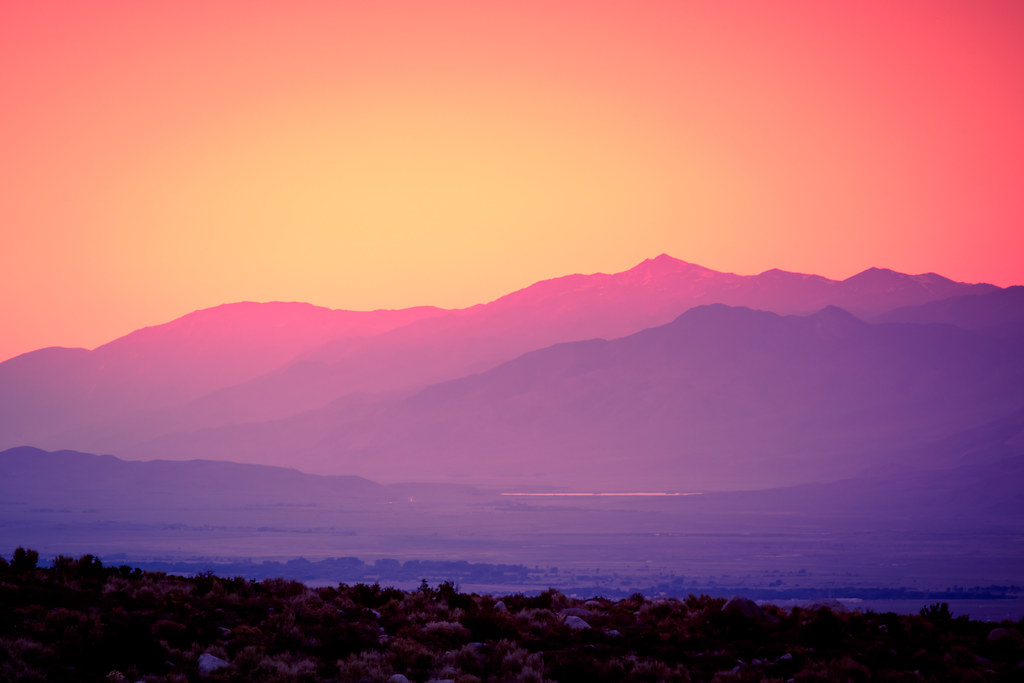 Lone Pine Sunset  Romain Guy  Flickr