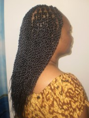 rope twist with hair extensions