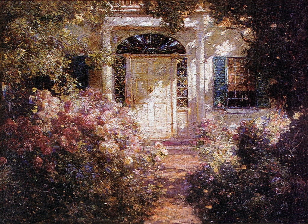 Abbott Fuller Graves Doorway and Garden c 1900  Flickr