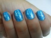light blue glitter nail polish