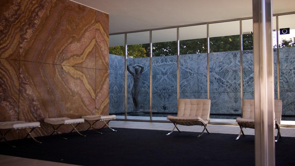Interior German Pavilion Barcelona Mies van der Rohe