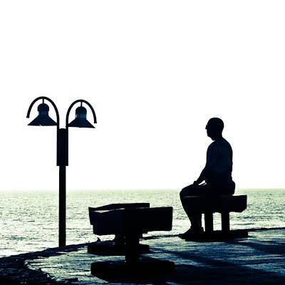 Elderly Man Sitting Quietly On Bench Ingo Jez Flickr