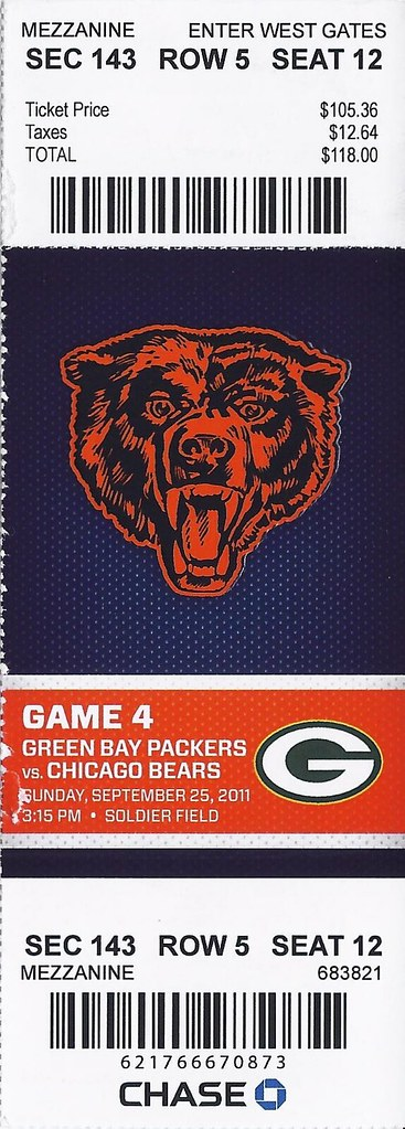 Green Bay Packers Vs Chicago Bears 2011 My First