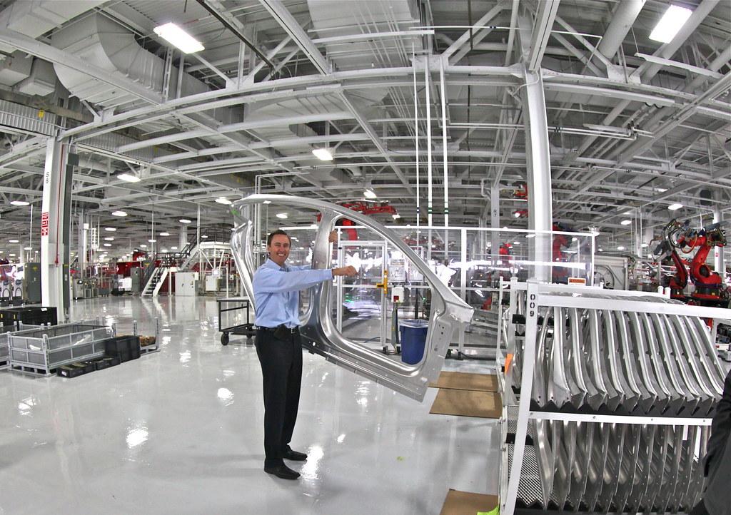 Tesla Sedan Side Panel  Stamped aluminum is light enough to  Flickr