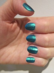 matte turquoise nails quo
