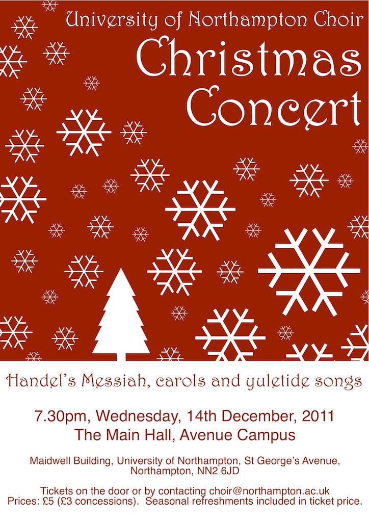 University Of Northampton Choir Christmas Concert Poster