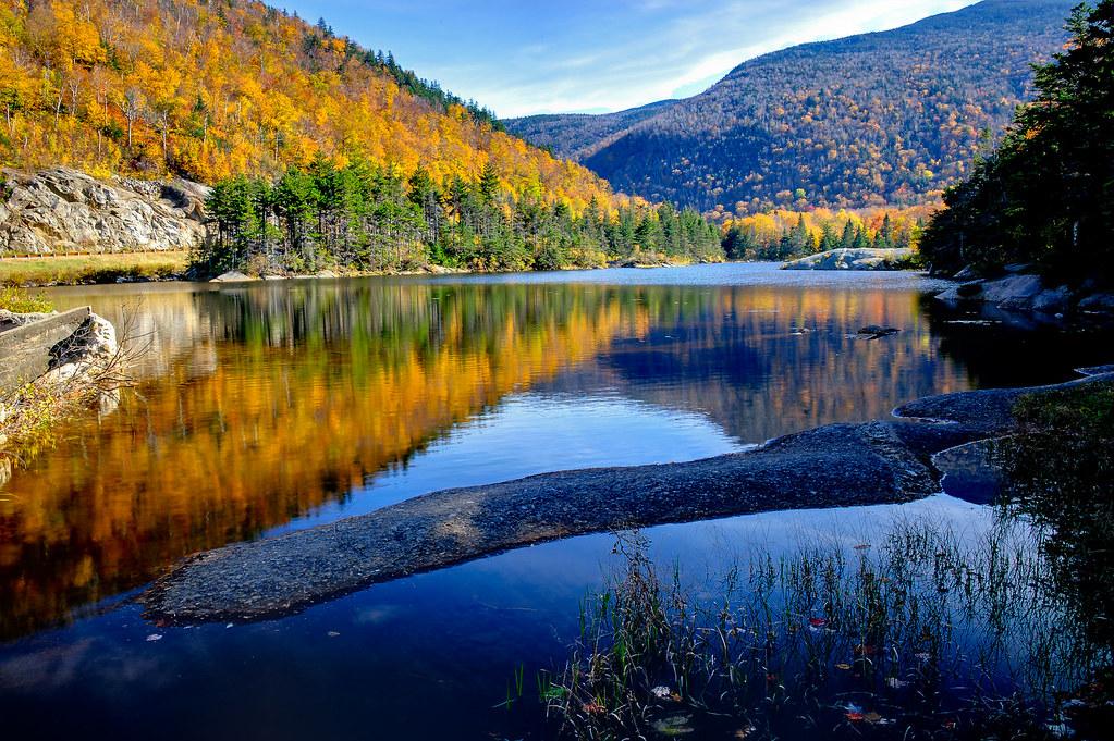 Vermont Fall Foliage Wallpaper Beaver Pond White Mountains New Hampshire Howard