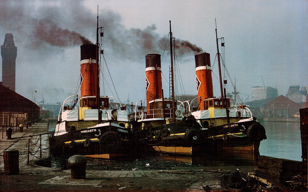 Awaiting orders  Rea Towing steam tugs Greygarth