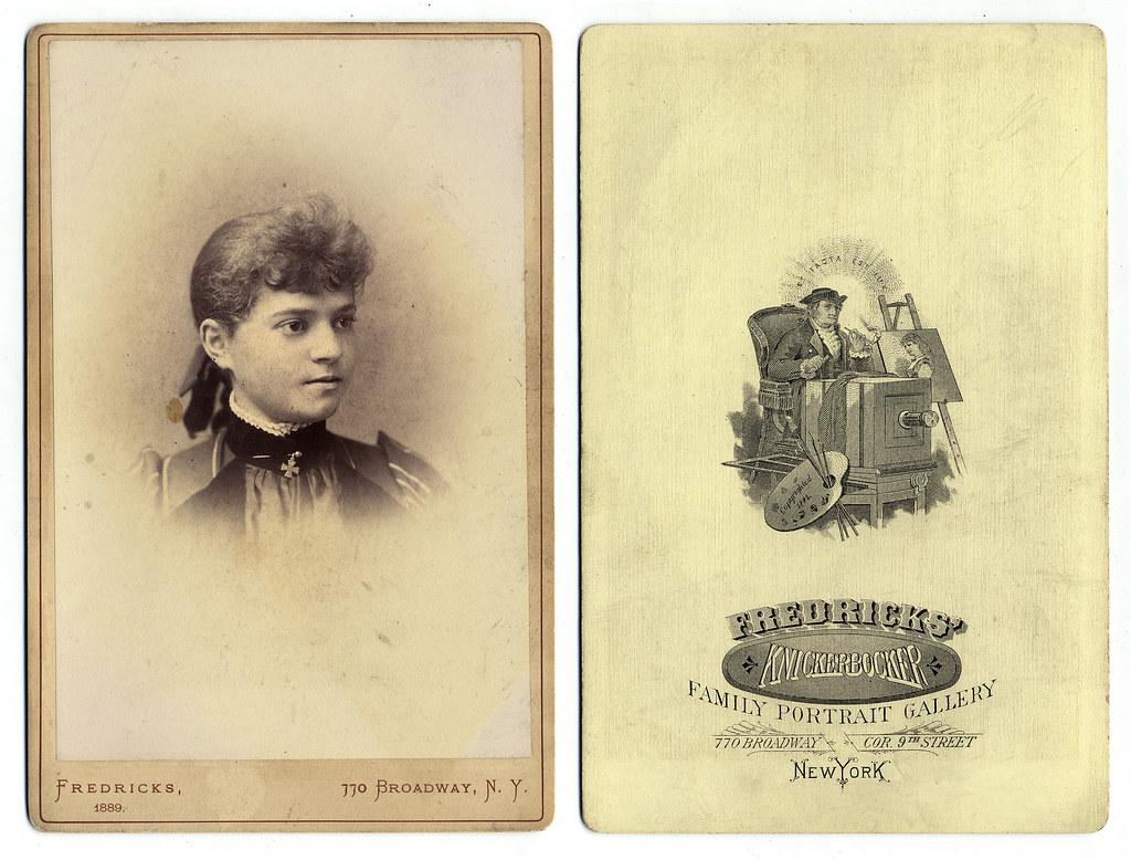 Antique cabinet card Fredricks Knickerbocker Family Port  Flickr