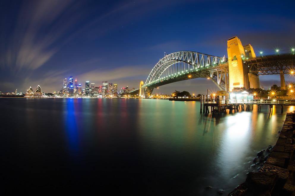 Sydney Harbour Bridge  Sydney Opera House at night  Flickr