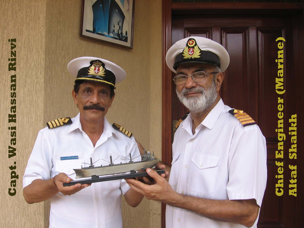 Capt Wasi Hassan Rizvi and Chief Engineer Marine Altaf Sha  Flickr