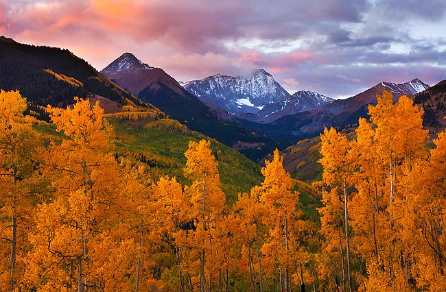 Fall Colors Wallpaper Autumn Capitol Peak Snowmass Colorado Beautiful First