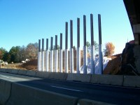 I-85/Poplar Tent Road bridge | Here, crews are driving ...