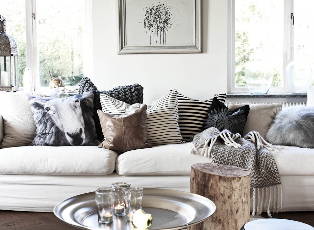 Daniella Witte White Scandinavian Eclectic Modern Living