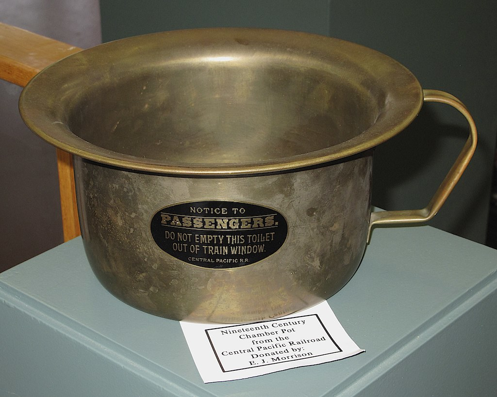 BRASS CHAMBER POT  HAMLET NC National Railroad Museum